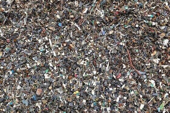śmieci po rozdrobnieniu
